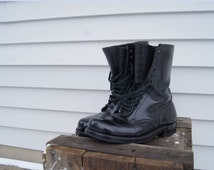 Vintage 90s Grunge Boots Biltrite Sole . Size 11 women's US, 10 men's US or size 9.5 . 12-hole Military Army Boots . Combat Boot