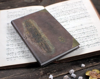 """SMALL hand bound journal, handmade notebook, personal diary, antique journal diary, Byzantine journal for things to treasure: """"Origins"""""""