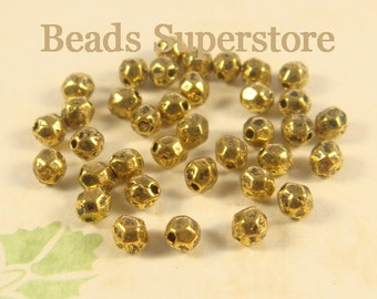 SALE 4 mm x 3.5 mm Antique Gold Spacer Bead - Nickel Free, Lead Free and Cadmium Free - 50 pcs