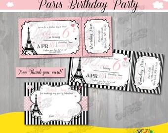 Paris Party Invitations - Free Custom Invitation Template Design | Verrado Drift