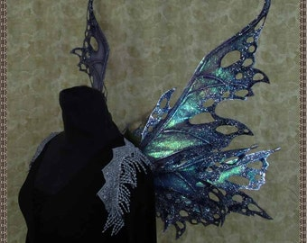 Iridescent Blue/Purple/Silver Fairy Wings for Adults**FREE SHIPPING**/Renn Faires/Costume/Photography/Masquerade/Cosplay/Weddings