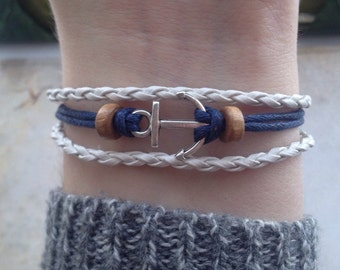 Anchor Bracelet - Pirate Bracelet - Boho Bracelet - Bohemian Bracelet - Nautical Bracelet - surf bracelet - mermaid bracelet - sea bracelet