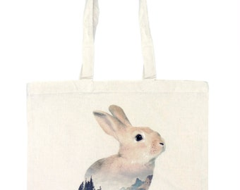 Rabbit Tote Bag - Faunascapes by WhatWeDo