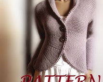 Blazer jacket Sweater  PDF knitting pattern Womens cardigan Easy Knit instant download Pattern available Only in ENGLISH