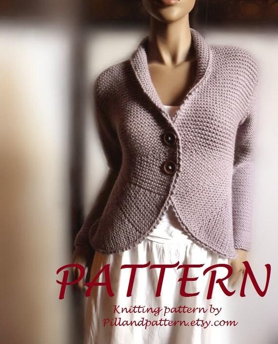 Blazer jacket Sweater PDF knitting pattern Womens cardigan