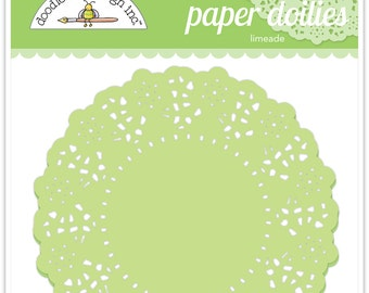Paper Doilies (Limeade) from Doodlebug - 75 count