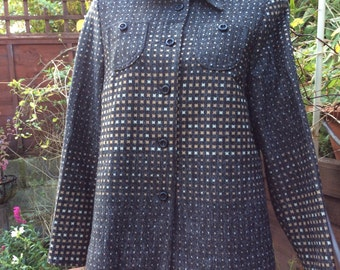 Vintage shirt jacket UK 12/14 US 8/10 EU 40/42 Lerose