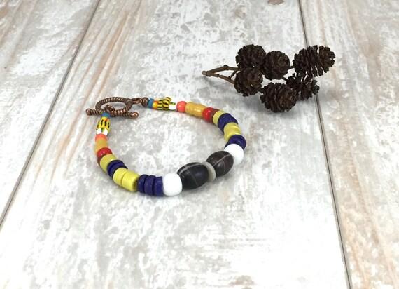 African Fair Trade Beads, Hippie Jewelry, Gypsy Jewelry, Bohemian Jewelry, Boho Bracelet, Bohemian bracelet, Boho Jewelry