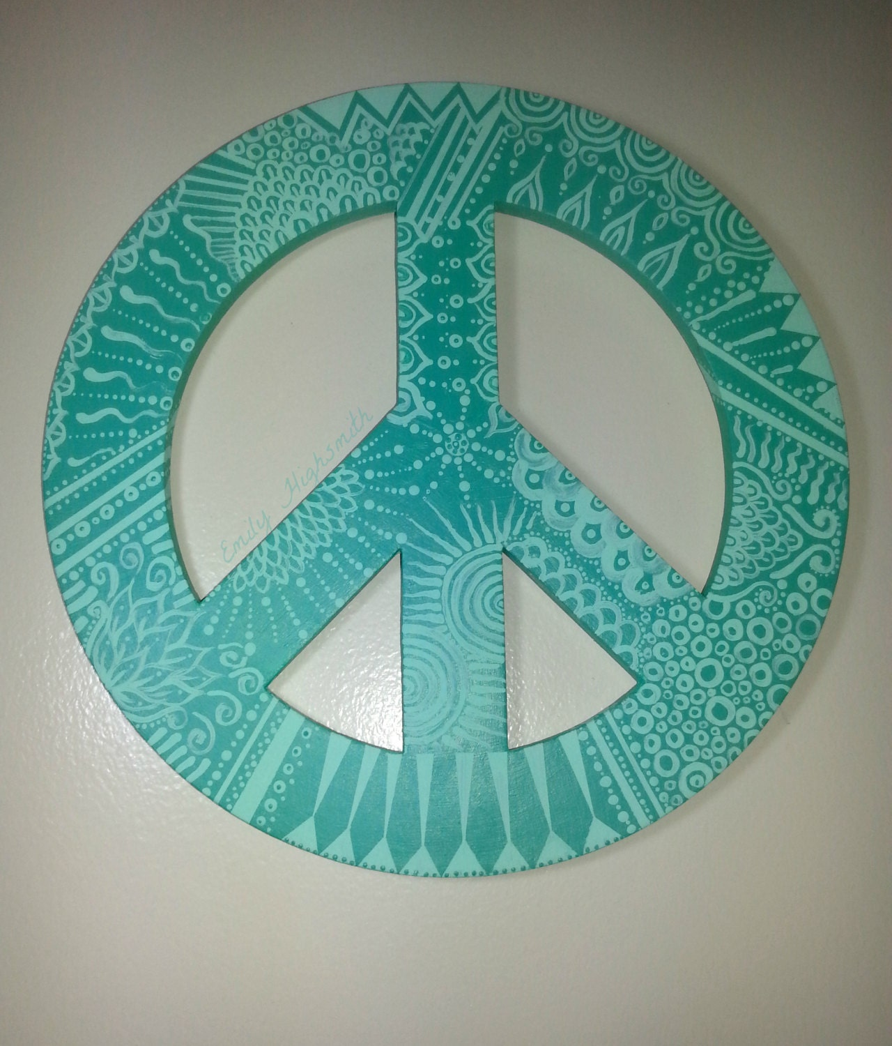 Hand Painted Peace Sign Wall Decor Wall Art 11 By