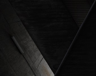 Abstract photography of stairs in a concrete building in Paris