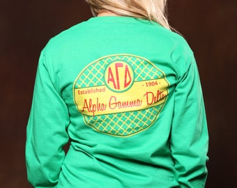 Alpha Gamma Delta 1904 Long Sleeve - AGD Letter Shirt