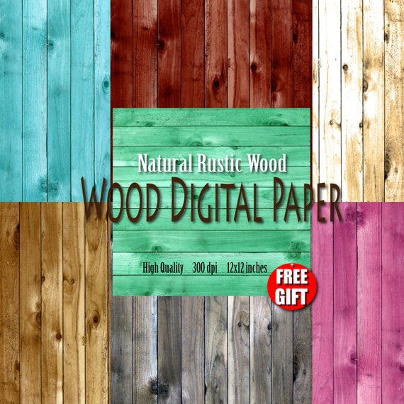 Rustic Wood digital paper wood background clipart Wooden decor Wood print Primitive wood patterns Scrapbook paper wood wall art print poster