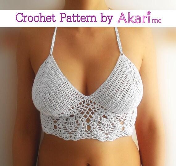 School shooting Crochet bikini top pattern Booty Studio