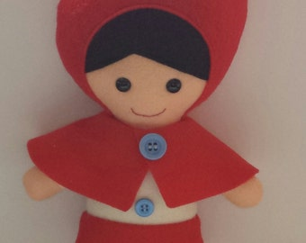 Little red riding hood felt plush pattern digital download