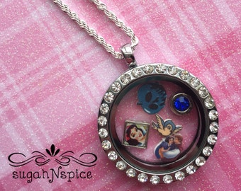 Snow White Floating Charms - Snow White Memory Locket Charms - Snow White Charm - Snow White Memory Locket Charms - Origami Inspired