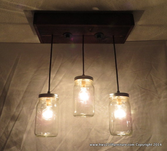 3 Pendant Mason Jar Chandelier Kitchen Lighting Mason Jar