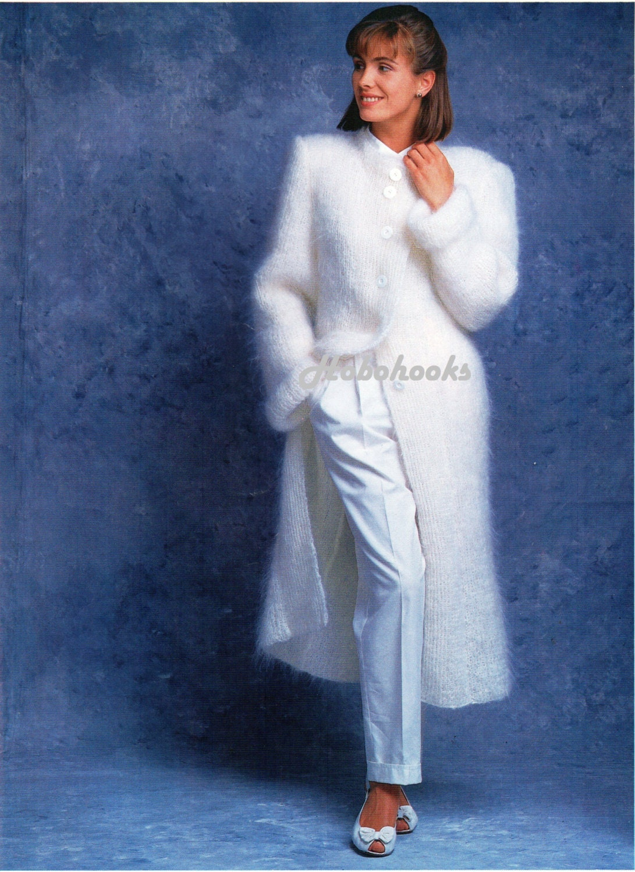 womens mohair coat knitting pattern long length mohair jacket