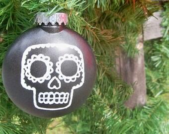 Happy Horrordays Christmas Tree Ornament - Black