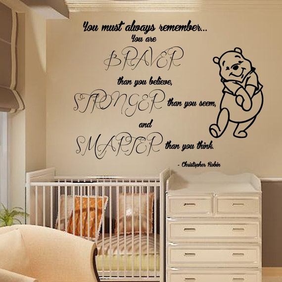 Winnie The Pooh Wall Quotes: Wall Decals Winnie The Pooh Wall Quotes You By