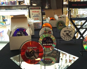 cool clocks      -  cd clocks with metal frames