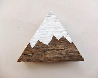 White Peak Mountain Magnets | Set of Three