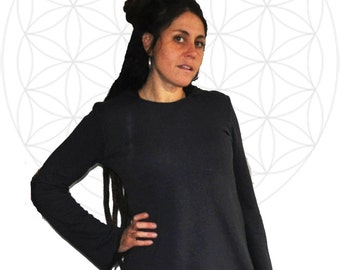 Hemp Hoodie Tunic- Handmade from Organic cotton and hemp Terry Cloth and hand dyed just for you