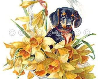Dachshund Dog Fabric, Doxie Quilt Panel, Block Dog quilt panel applique quilt block, crazy quilting supply, Dachshund dog Panel fabric block
