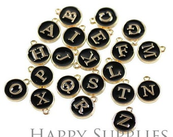 High Quality A-Z Black Color Letter Charm / Pendant (DY01)