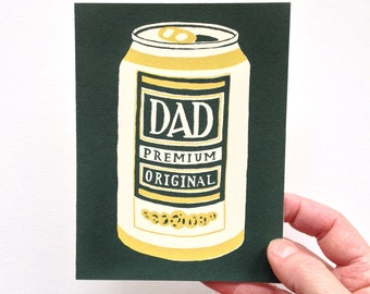 PREMIUM DAD - Screen Printed Birthday or Father's Day Card