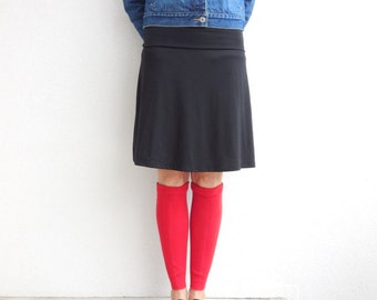 Leg Warmers Women's Leg Warmers Sweater Leg Warmers Red Recycled Cotton Leg Warmers Repurposed Clothing Gift for Her Fall Autumn ohzie