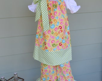 Girls Easter pillowcase dress & ruffle pants Hello Sunshine Riley Blake fabric sizes 6 months-4T custom made by Baby Harrill