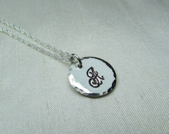 Initial Necklace, Bridesmaid Gift, Custom Hand Stamped Monogram Necklace, Personalize Necklace, Bridesmaid Jewelry Letter Necklace
