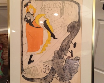 Art poster, created for Jane Avril by Henri Marie Raymond Toulouse-Lautrec (1864-1901)