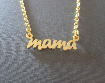 Personalized Mini Gold Name Necklace