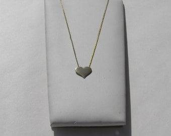 1980's Gold Heart Necklace