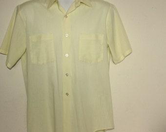 "Men's Vintage 1960's Short Sleeve Shirt  Penneys Towncraft Penn Prest Size 16.5"" Large"