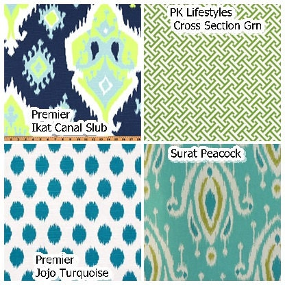 Full sized fitted Daybed or Futon cover, customize fabric, size (pictured  in Premier Prints Ikat Canal Slub), mattress cover