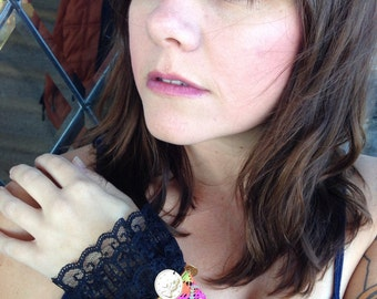 Handmade gypsy/boho/hippie chic wrist cuff