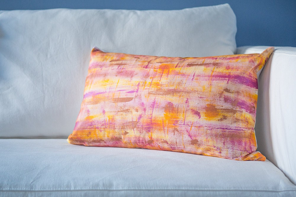 16x24 pillow cover hand painted pillow boho throw pillow for Hand painted pillows