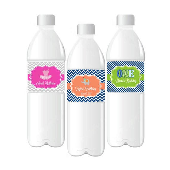 Decor Drink Bottles Awesome Personalized Kids Birthday Water Bottle Labels Waterproof Water 2018