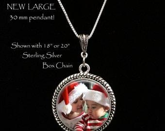 LARGE Photo Pendant, Photo necklace, Custom Photo Jewelry, Personalized Keepsake Jewelry, Your photo on a necklace, custom photo necklace