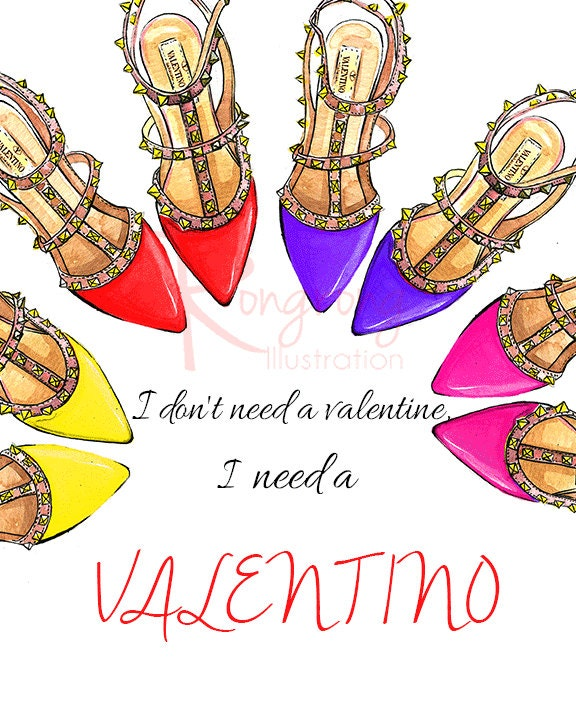I need a Valentino shoes art printFashion