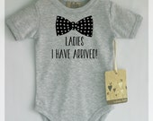 Funny baby boy clothes. Ladies I have arrived baby romper. Baby boy cute clothes. Many colors available.