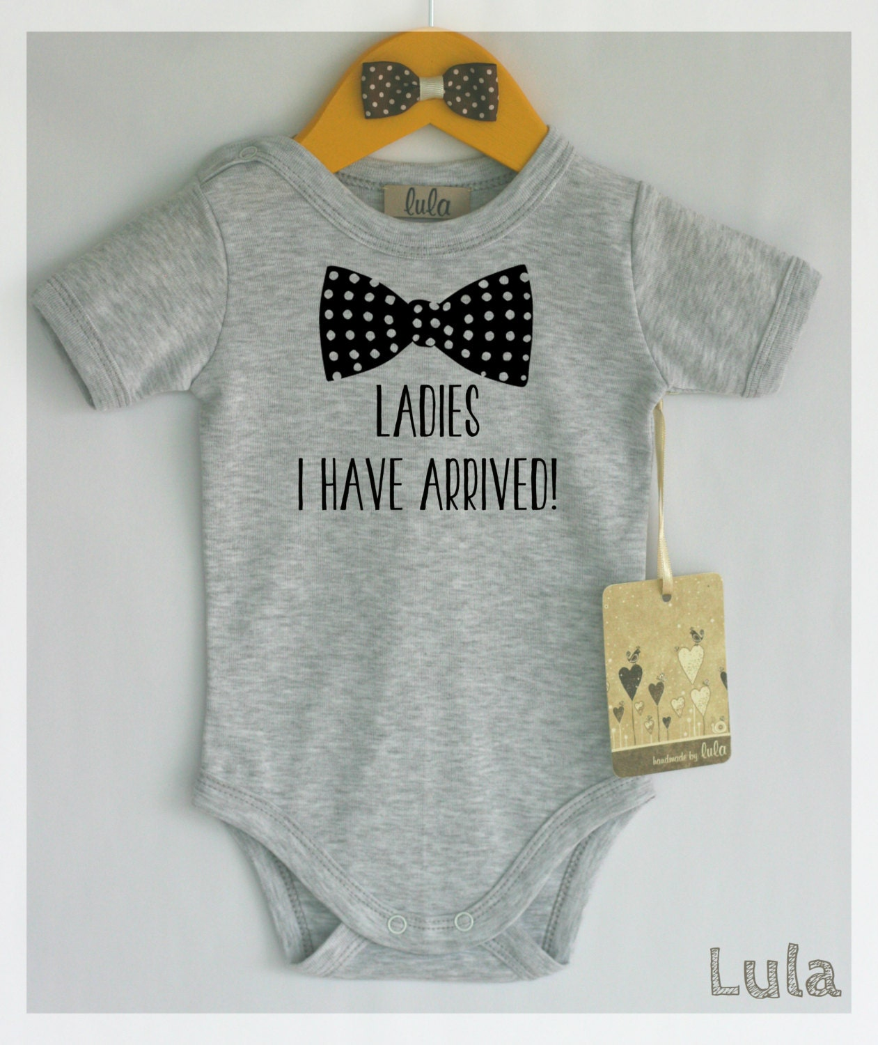 funny baby boy clothes ladies i have arrived baby romper. Black Bedroom Furniture Sets. Home Design Ideas