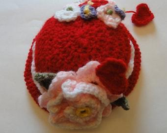 Sweetheart Valentine Baby Hat