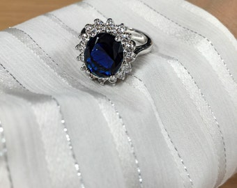 The Royal Ring | This 6 carat Kate Middleton inspired blue sapphire royal duchess engagement ring is fit for a princess