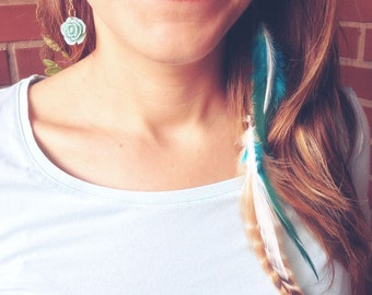 Dreamer Wings Earrings Customizable. Boho Feathers Earrings. Long bohemian feathers earrings Cruelty free. Choose colors and style