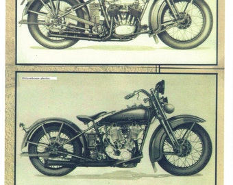 Harley Davidson Motorcycle Prints-Set of 2