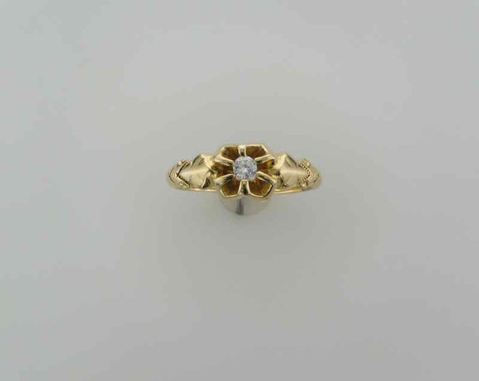 Victorian Yellow Gold Diamond Ring Perfect for an Engagement Ring or Promise Ring