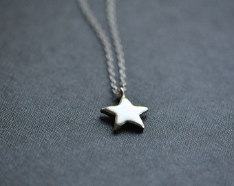 Sterling Silver Star Necklace  - Silver Star Necklace - Star Jewelry